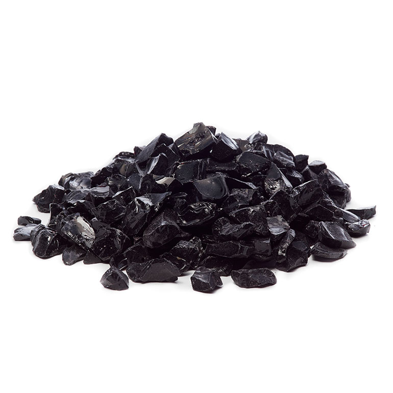 picture of black fire glass