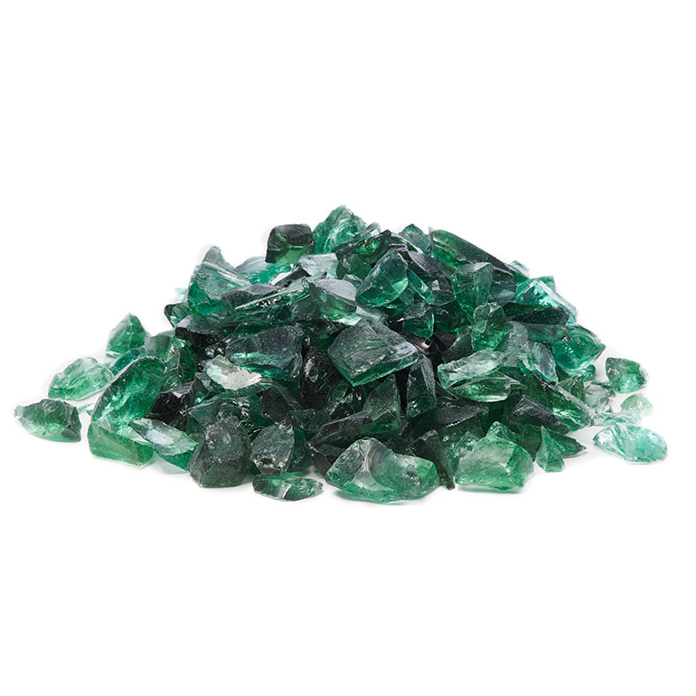 picture of green fire glass