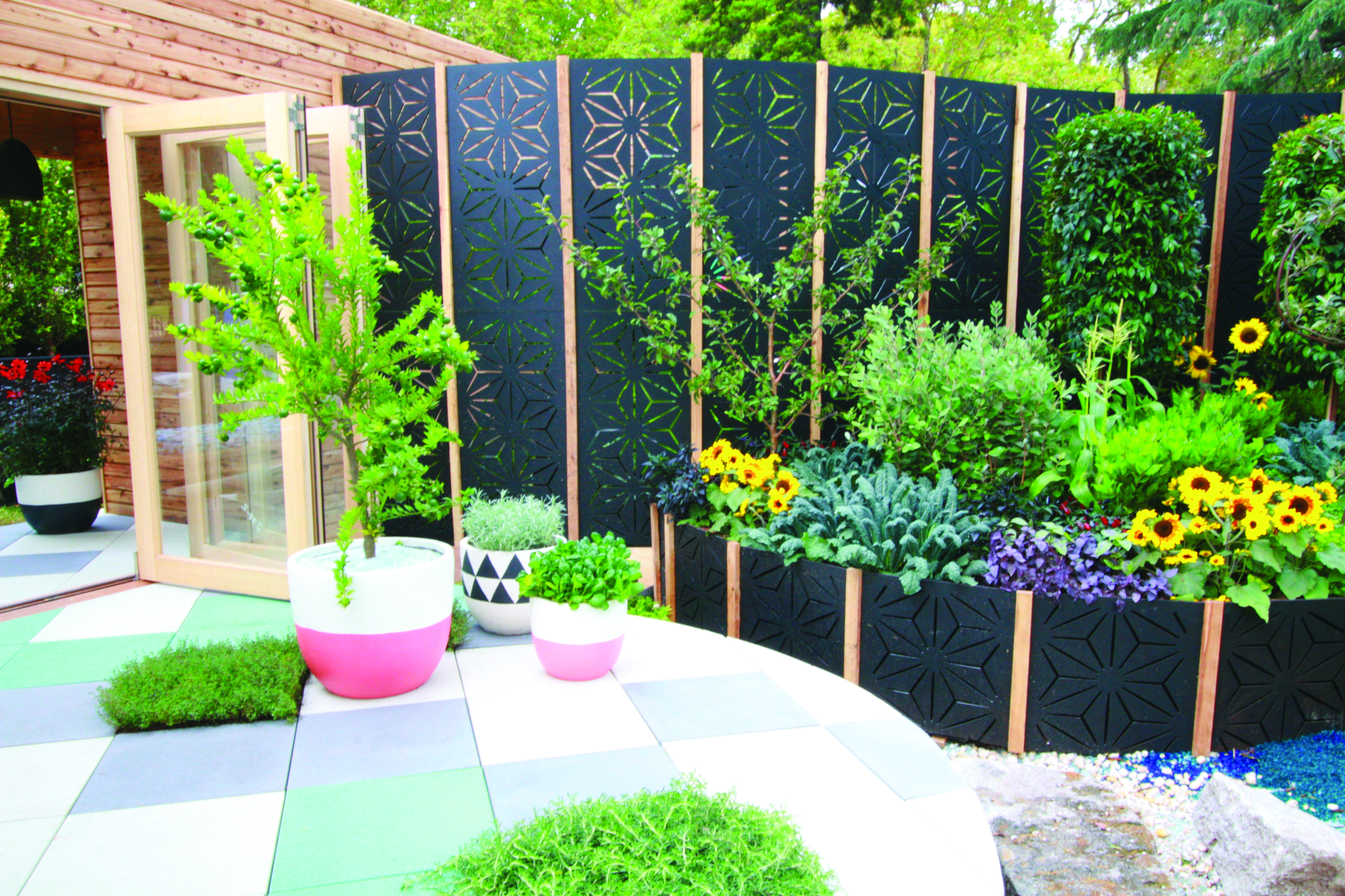 outdoor garden screens