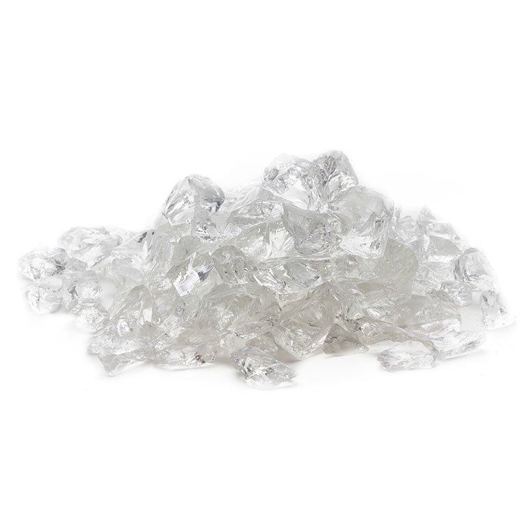 picture of ice clear fire glass
