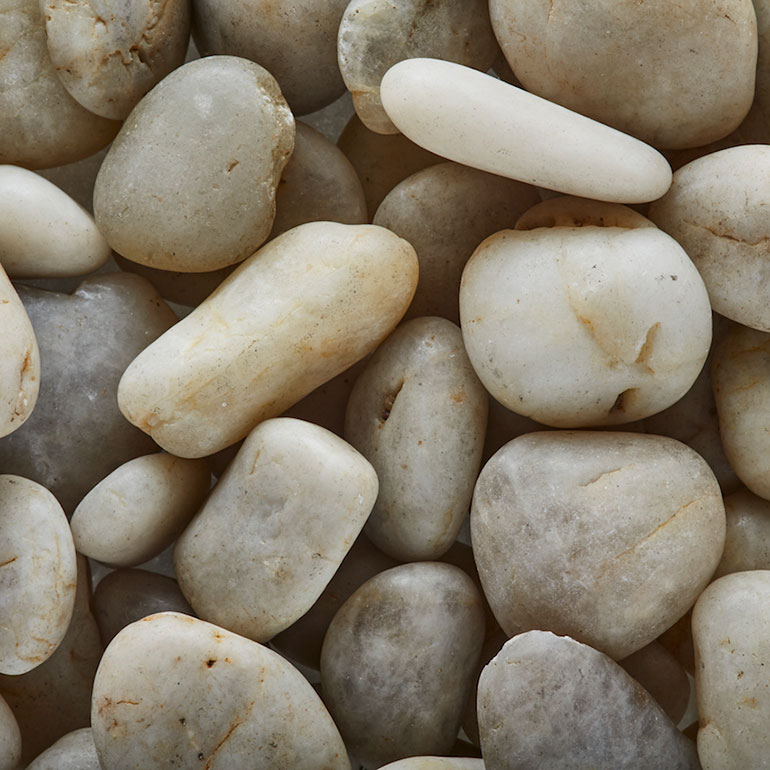 Polished White Pebbles