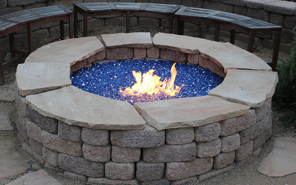 Fire Glass s Landscaping Glass Ideas Inspiration