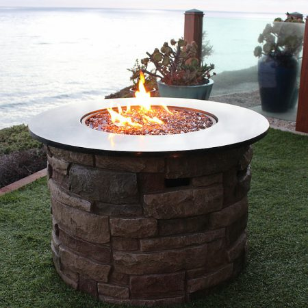 Outdoor Fire Pit - Copper Reflective Fire Glass (¼ inch)
