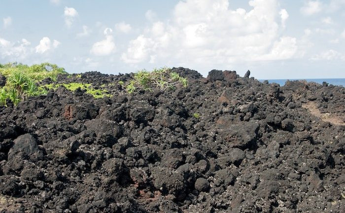 picture of lava rock in volcanic environment