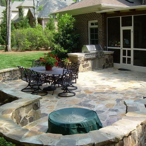 stoned patio flooring