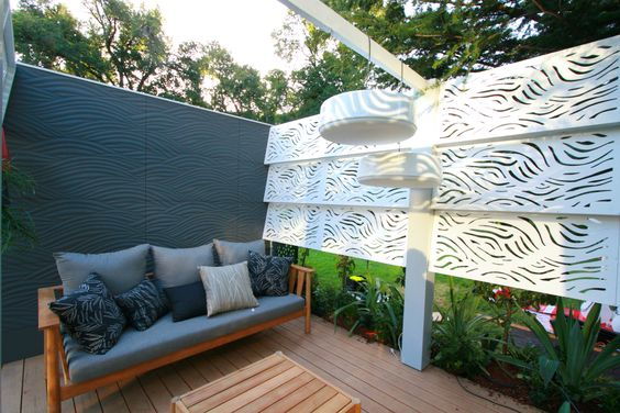 outdoor privacy panel garden screen