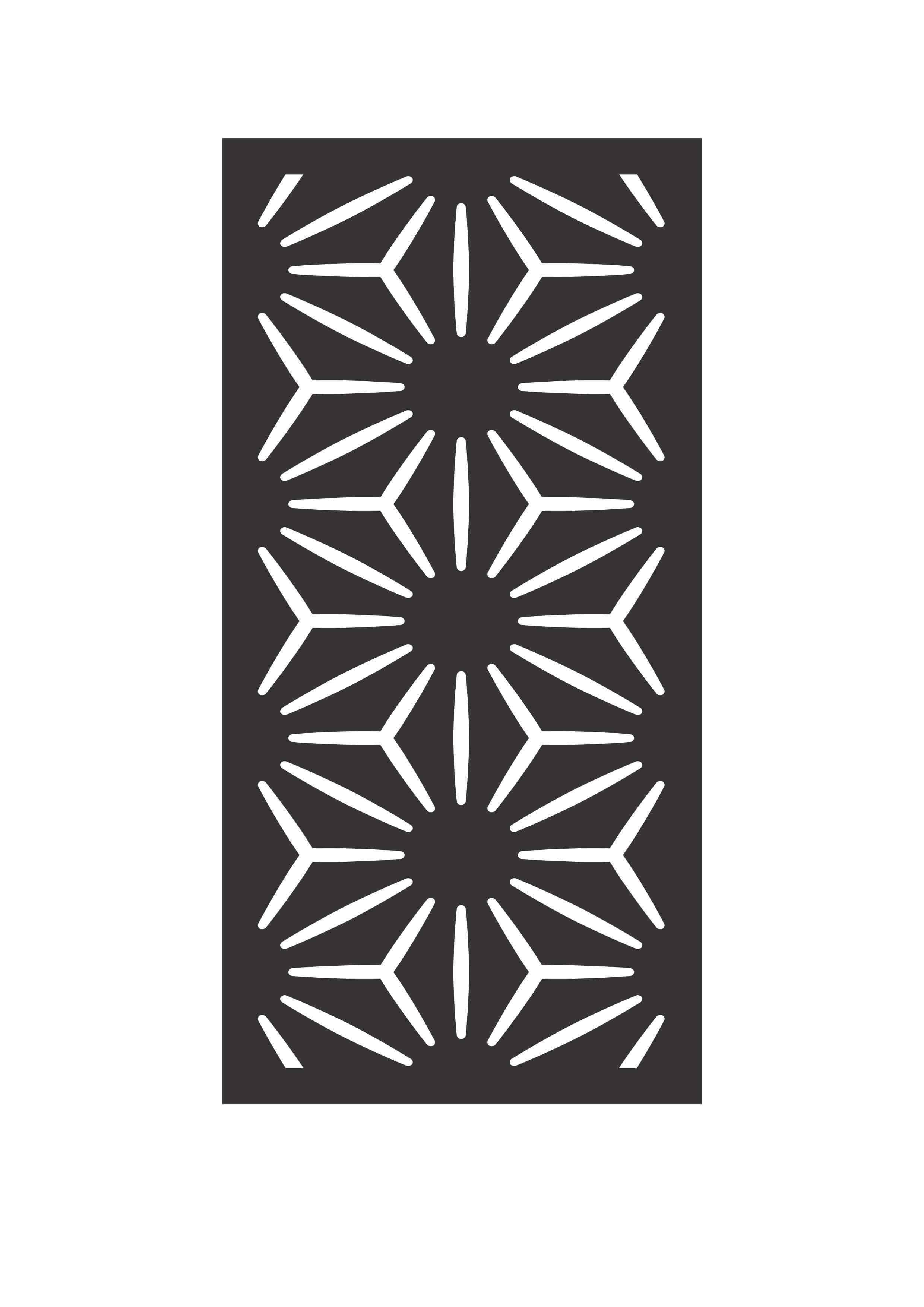 picture of outdeco Star Anais privacy panel