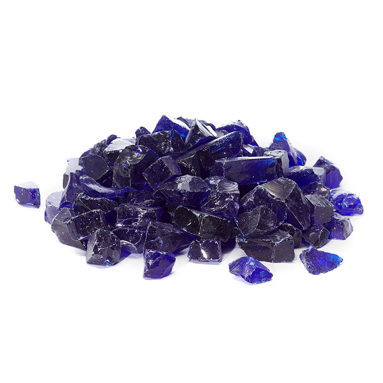 picture of cobalt blue fire glass