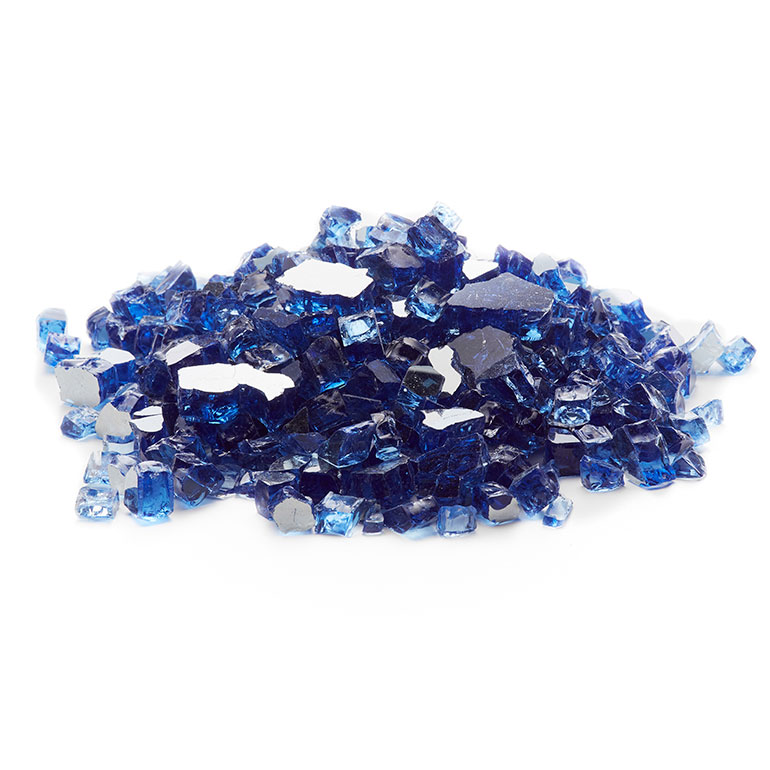 picture of cobalt blue reflective fire glass