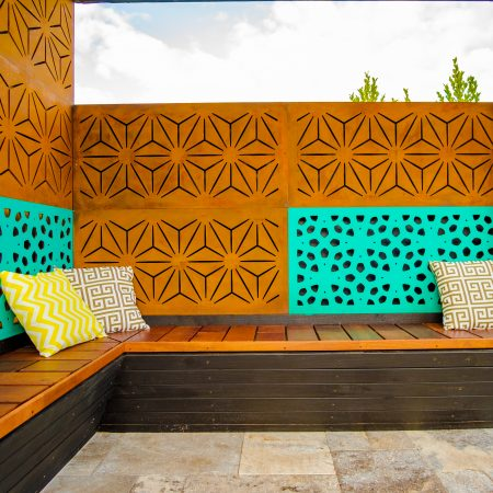 MARAKESH 24 x 48 inches - 80% Privacy (painted), STAR ANAIS 24 x 48 inches - 80% privacy (painted), and BUNGALOW 24 x 48 inches - 80% Privacy