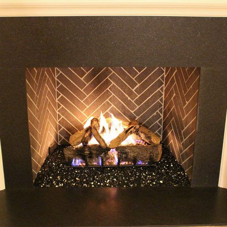 Indoor Fireplace - Black Reflective Fire Glass (¼ inch)