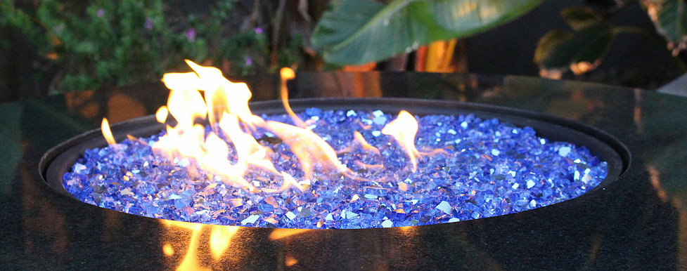 Fireplace /& Fire Pit Glass Crystals Black Red Blue Blend Reflective Fireglass