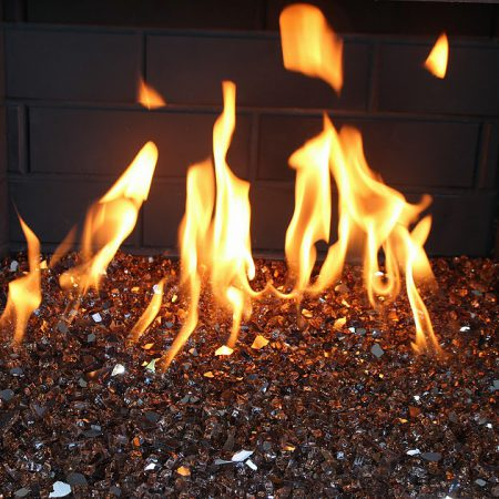 Indoor Fireplace - Copper Reflective Fire Glass (¼ inch)
