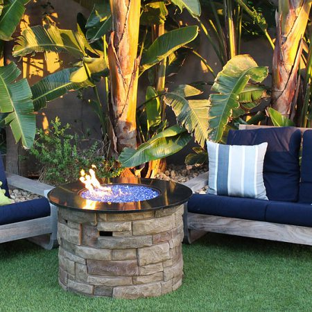 Outdoor Fire Pit - Cobalt Blue Reflective Fire Glass (¼ inch)