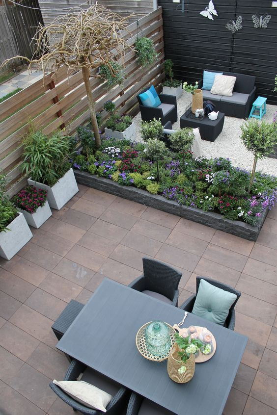 segmenting your backyard - Narrow Backyard Design Ideas
