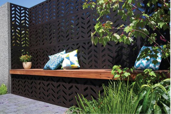 outdoor garden panel bench