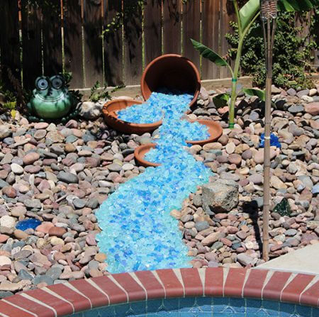 Flowing from Pots to Create Stream