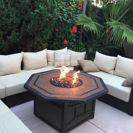 small sleek firepit for patio