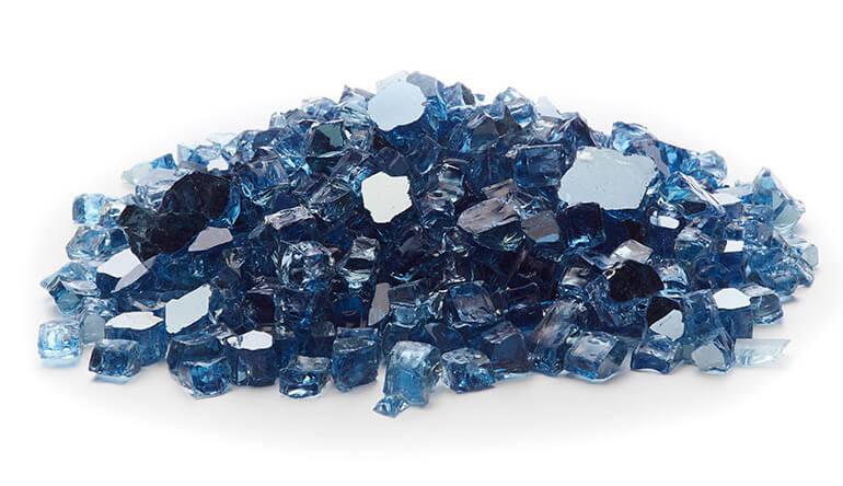 Sky Blue Reflective Fire Glass